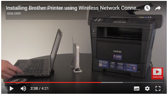 Installing Brother HL-2240D Brother Printer using Wireless Network Connection